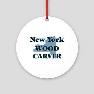 New York Wood Carver Round Ornament