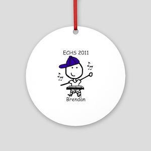 Pit Keyboard - Brendan Ornament (Round)