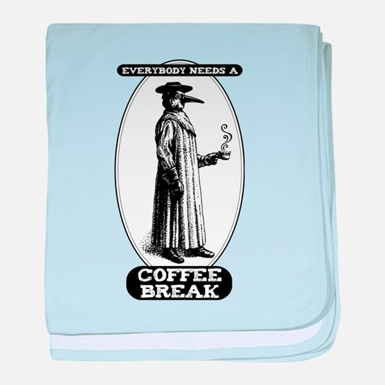Everybody needs a Coffee Break baby blanket