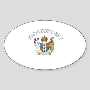 Halfmoon Bay Oval Sticker