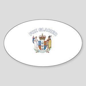 Fox Glacier, New Zealand Oval Sticker