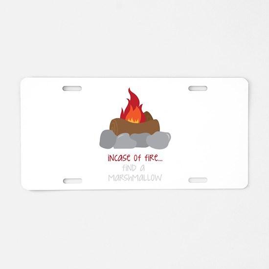 Incase Of Fire Aluminum License Plate