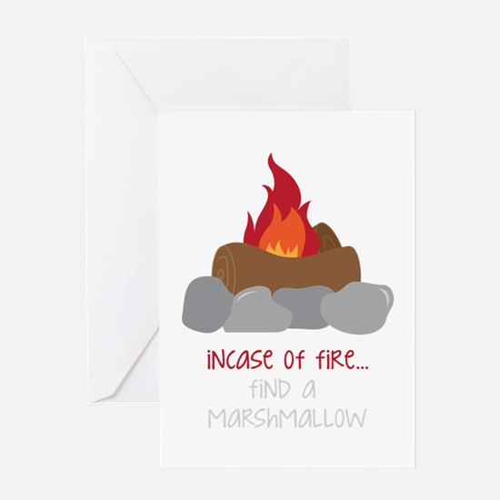 Incase Of Fire Greeting Cards