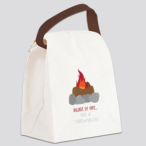 Incase Of Fire Canvas Lunch Bag