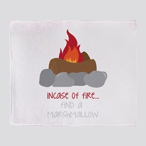 Incase Of Fire Throw Blanket