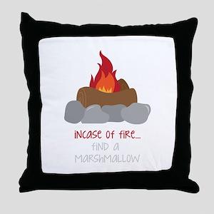 Incase Of Fire Throw Pillow