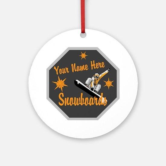 Snowboard Shop Round Ornament
