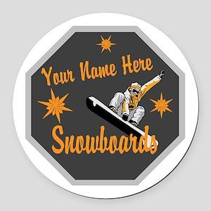 Snowboard Shop Round Car Magnet