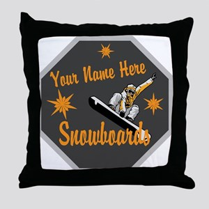 Snowboard Shop Throw Pillow