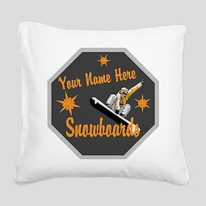 Snowboard Shop Square Canvas Pillow