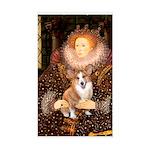 The Queen's Corgi Sticker (Rectangle)