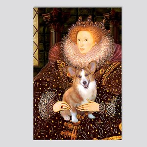 The Queen's Corgi Postcards (Package of 8)