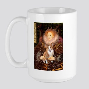 The Queen's Corgi Large Mug