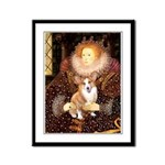 The Queen's Corgi Framed Panel Print