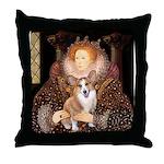 The Queen's Corgi Throw Pillow