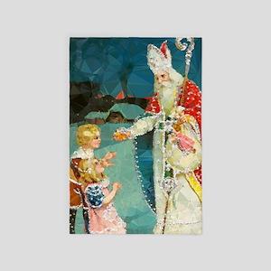 Saint Nicholas Vintage Christmas Low 4' X 6&#3