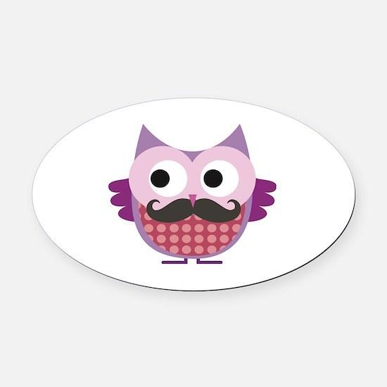 Cute Mustache Oval Car Magnet