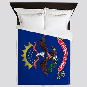 North Dakota State Flag Queen Duvet
