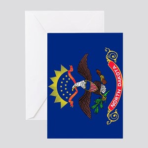 North Dakota State Flag Greeting Card