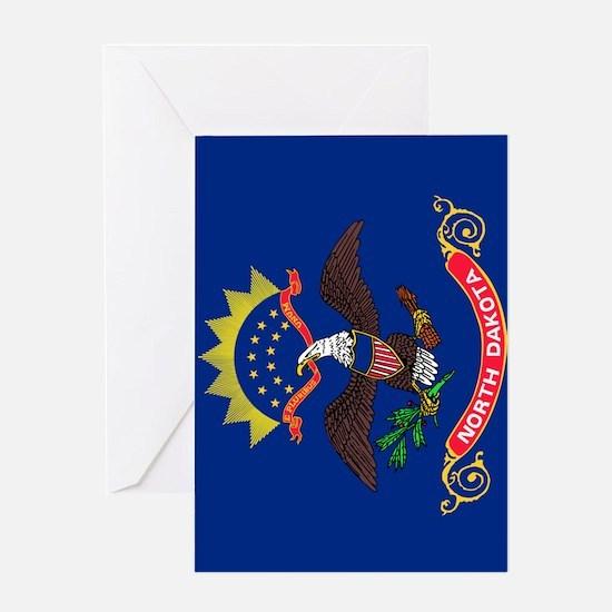 North Dakota State Flag Greeting Card