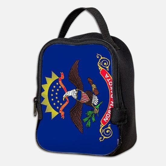 North Dakota State Flag Neoprene Lunch Bag