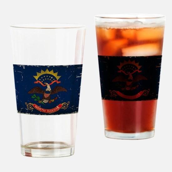 North Dakota State Flag VINTAGE Drinking Glass