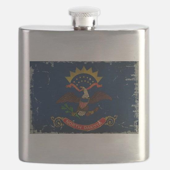 North Dakota State Flag VINTAGE Flask