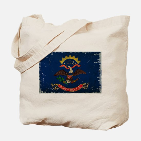 North Dakota State Flag VINTAGE Tote Bag