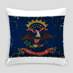 North Dakota State Flag VINTAGE Everyday Pillow