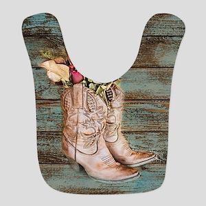 primitive barnwood cowboy boots Bib