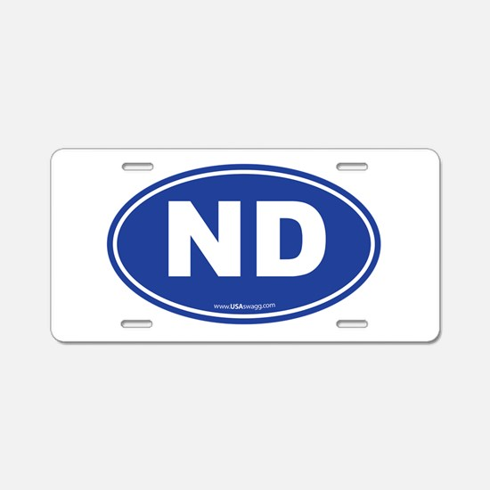 North Dakota Aluminum License Plate