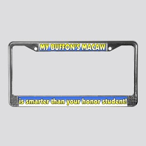 Honor Student Buffon's Macaw License Plate Frame