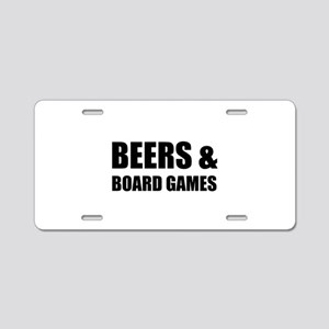 Beers & Board Games Aluminum License Plate