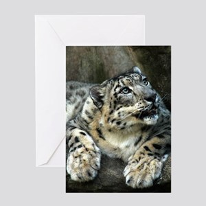 Snow Leopard Greeting Cards