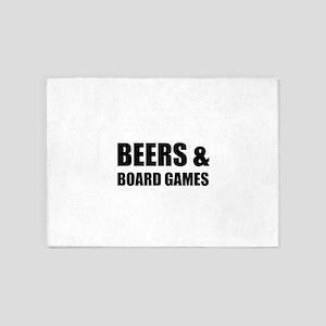Beers & Board Games 5'x7'Area Rug
