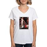 ACCOLADE / Corgi Women's V-Neck T-Shirt