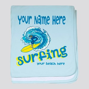 Surfing baby blanket