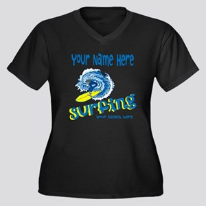 Surfing Plus Size T-Shirt