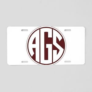 AGS - SEC - Maroon Aluminum License Plate