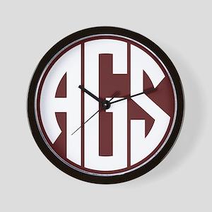 AGS - SEC - Maroon Wall Clock
