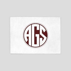 AGS - SEC - Maroon 5'x7'Area Rug