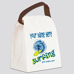 Surfing Canvas Lunch Bag