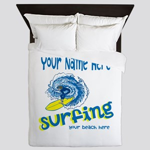 Surfing Queen Duvet