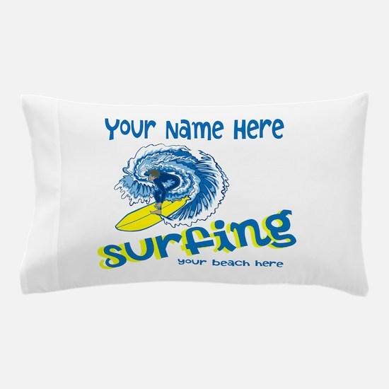Surfing Pillow Case