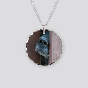 the nose knows Necklace Circle Charm