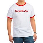Chess Star Red Logo Ringer T T-Shirt