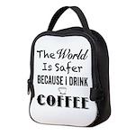 I Drink Coffee Neoprene Lunch Bag