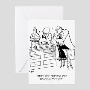 Primordial Soup Cartoon 9477 Greeting Card