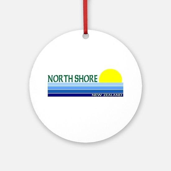 North Shore, New Zealand Ornament (Round)