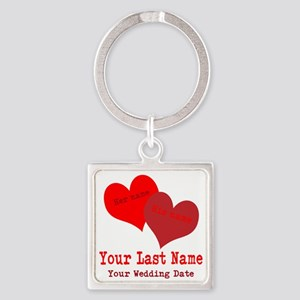 Wedding Hearts Keychains